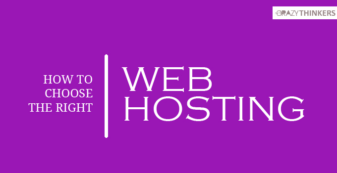 How to Choose the Right Web Hosting for Your Website / Blog - 7 Tips - Factors