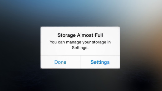 How to solve the 'Storage Almost Full' in iPhone or Ipad