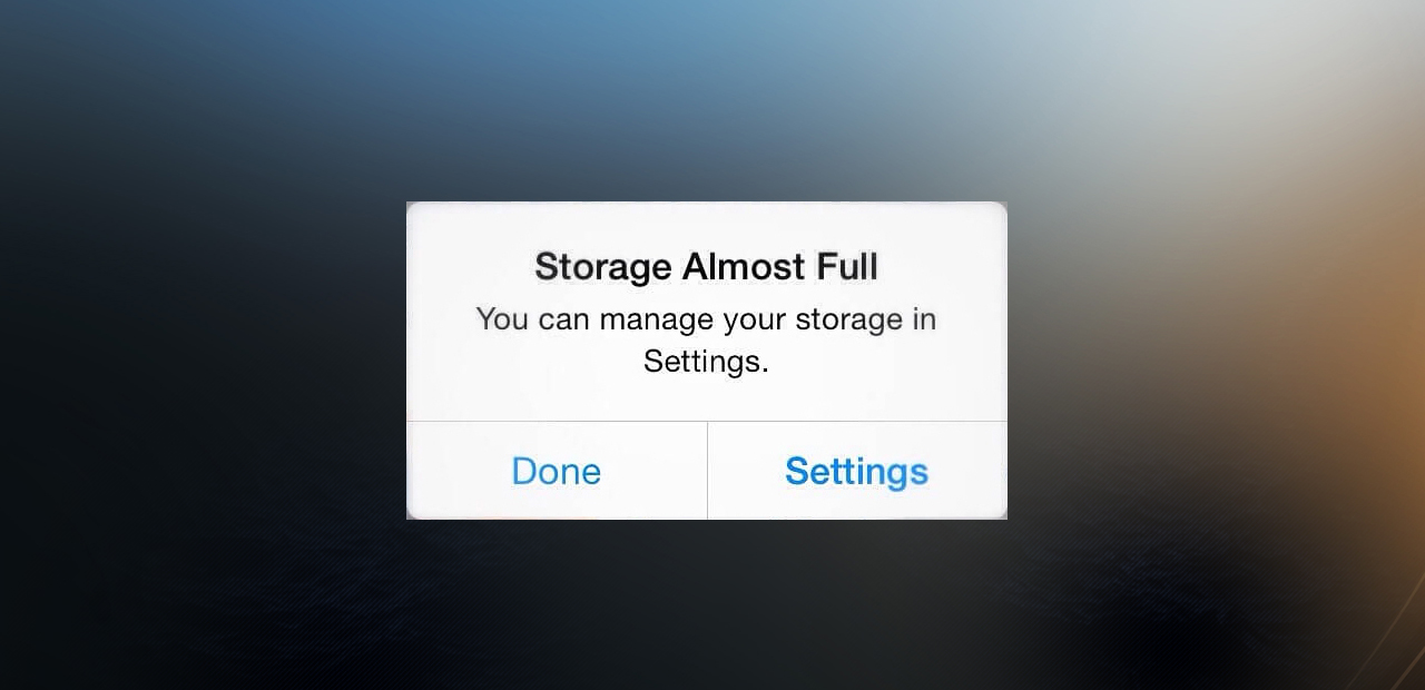 storage almost full on iphone how to solve the storage almost in iphone or 1484