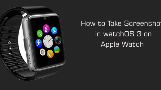 How to Take Screenshot in watchOS 3 on Apple Watch