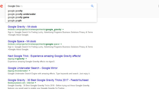 15 Best Google Gravity I'm Feeling Lucky Tricks