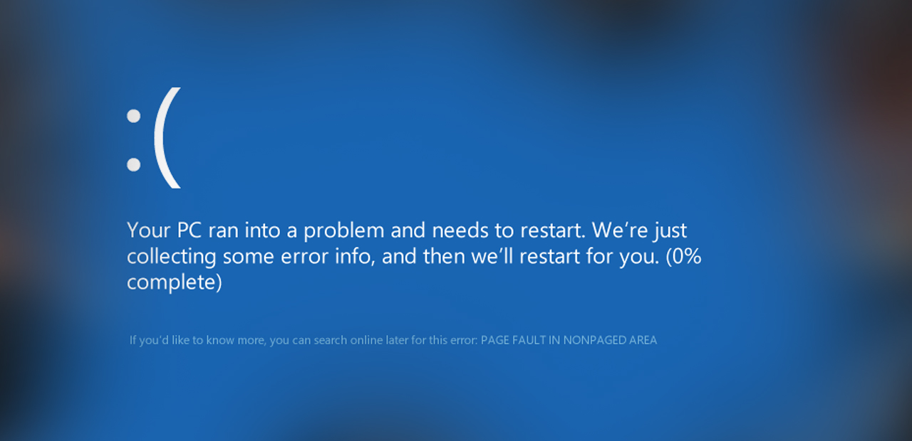 How to Fix Page Fault In Nonpaged Area