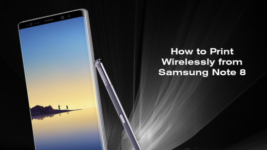How to Print Wirelessly from Samsung Note 8